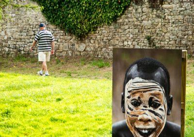 humour & photographie : le masque peint